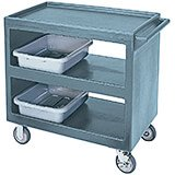 "Slate Blue, 37-1/4"" x 21-1/2"" Service Cart, Open, 4 Swivel Casters"