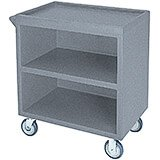 "Granite Gray, 33-1/8"" x 20"" Service Cart, Enclosed, 2 Swivel Casters"