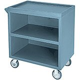 "Slate Blue, 33-1/8"" x 20"" Service Cart, Enclosed, 2 Swivel Casters"