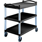 Black, Heavy Duty Utility Cart, Knocked Down