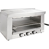 "Stainless Steel Heavy Duty Infrared Gas Cheese Melter, 17"" X 26.5"" Rack"