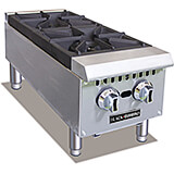 Stainless Steel Double Burner Commercial Gas Hot Plate, 50,000 Total BTU