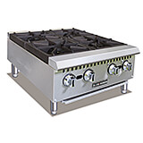 Stainless Steel 4 Burner Commercial Gas Hot Plate, 100,000 Total BTU