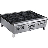 Stainless Steel 6 Burner Commercial Gas Hot Plate, 150,000 Total BTU