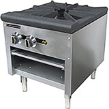 Stainless Steel Single Burner Gas Hot Plate / Stock Pot Burner, 80,000 BTU