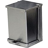 Stainless Steel, Commercial Step On Trash Can, 24 Qt