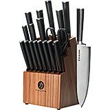 Bamboo, Chikara 19-Piece Knife Set, Finished Hardwood Block, Forged 420J2 Blades