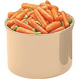 Beige, 1.5 Qt. Crocks with Lid, 6/PK
