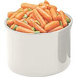 White, 1.5 Qt. Crocks with Lid, 6/PK