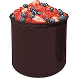 Reddish Brown, 2.7 Qt. Crocks with Lid, 6/PK
