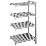 "Speckled Gray, Camshelving Add-on Unit, 36"" x 18"" x 72"", 4 Shelves"