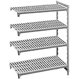 "Speckled Gray, Camshelving Add-on Unit, 54"" x 21"" x 72"", 4 Shelves"