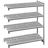 "Shelving Add-on Units, 64"" High, 4 Shelves: 24"" Deep"