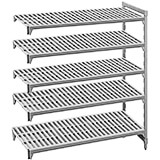 "Speckled Gray, Camshelving Add-on Unit, 60"" x 24"" x 72"", 5 Shelves"