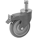 Shelving Total Locking Caster, Premium, 2/PK