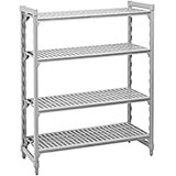 "Speckled Gray, Shelving Starter Unit, 54"" x 24"" x 72"", 4 shelves"