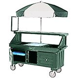 Granite Green, Vending Cart with Umbrella, 4 Pans, 6ft