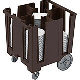 Dark Brown, Versa Dish Caddy, Maximum Plate Size: 9-1/2""