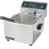 Stainless Steel Single Tank Electric Deep Fryer, 120V, 6.34 Qt