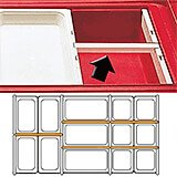 "Clear, Dividers Bars, 12-3/4"" Long, 3/PK"