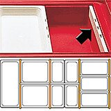 "Clear, Dividers Bars, 20-7/8"" Long, 3/PK"