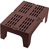 "Dark Brown, 30"" S-Series Dunnage Rack, Slotted Top"