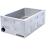 "Stainless Steel Electric Food Warmer, Fits Full Size Pans Up To 4"" Deep, 6.38 Qt, 1200W"