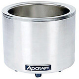 Stainless Steel Round Food Warmer / Slow Cooker, 11 Qt