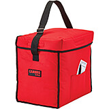"Red, Nylon 13"" X 9"" X 13"" Food Delivery Bag, Insulated Food Carrier, 4/PK"
