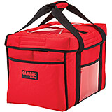 "Black, Nylon 13"" X 10"" X 9"" Food Delivery Bag, Insulated Food Carrier, 4/PK"