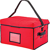 "Red, Nylon 18"" X 14"" X 12"" Food Delivery Bag, Insulated Food Carrier, 4/PK"