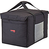 "Black, Nylon 21"" X 14"" X 14"" Food Delivery Bag, Insulated Food Carrier, 4/PK"