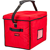 "Red, Nylon 21"" X 15"" X 17"" Food Delivery Bag, Insulated Food Carrier"