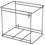 Wire Liner Frame for Delivery Bags, Fits GBLLG-CLR Liners