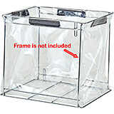 Clear, Vinyl Medium Reusable Liners for Food Delivery Bags, Fits GBFMD-000 Metal Frame