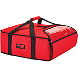 "Red, Polyester Insulated Pizza Bag, Food Delivery Bag Holds (2) 16"" Or (3) 14"" Pizza Boxes, 4/PK"