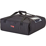 "Black, Polyester Insulated Pizza Bag, Food Delivery Bag Holds (2) 20"" Or (3) 18"" Pizza Boxes, 4/PK"