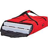 "Red, Polyester Insulated Pizza Bag, Food Delivery Bag Holds (2) 20"" Or (3) 18"" Pizza Boxes, 4/PK"