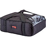 "Black, Polyester Insulated Pizza Bag, Food Delivery Bag Holds (3) 18"" Or (4) 16"" Pizza Boxes, 4/PK"
