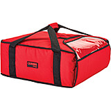 "Red, Polyester Insulated Pizza Bag, Food Delivery Bag Holds (3) 18"" Or (4) 16"" Pizza Boxes, 4/PK"