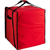 "Red, Nylon Insulated Premium Pizza Bag, Food Delivery Bag Holds (10) 18"" Pizza Boxes"
