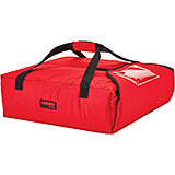 "Red, Nylon Insulated Premium Pizza Bag, Food Delivery Bag Holds (2) 12"" Pizza Boxes"