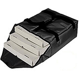 "Black, Nylon Insulated Premium Pizza Bag, Food Delivery Bag Holds (2) 14"" Or (3) 12""pizza Boxes"