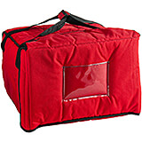 "Red, Nylon Insulated Premium Pizza Bag, Food Delivery Bag Holds (5) 18"" Pizza Boxes"