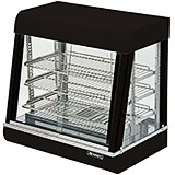 "Stainless Steel 26"" Countertop Food Warmer Display, 3 Adjustable Shelves, Front & Rear Doors"