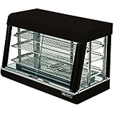 "Stainless Steel 36"" Countertop Food Warmer Display, 3 Adjustable Shelves, Front & Rear Doors"