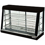 "Stainless Steel 48"" Countertop Food Warmer Display, 3 Adjustable Shelves, Front & Rear Doors"