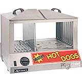 Stainless Steel Hot Dog Steamer and Bun Warmer Combo, 100 Hot Dogs / 48 Buns Capacity
