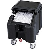 Black, Ice Bin / Caddy, 100 Lb. Capacity, 4 Swivel Casters