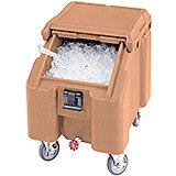Coffee Beige, Ice Bin / Caddy, 100 Lb. Capacity, 4 Swivel Casters